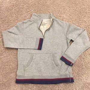 Heather gray half zip sweatshirt Crewcuts Size 8